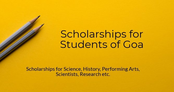 Scholarships for Goa Students