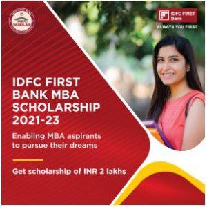 IDFC FIRST Bank Scholarship