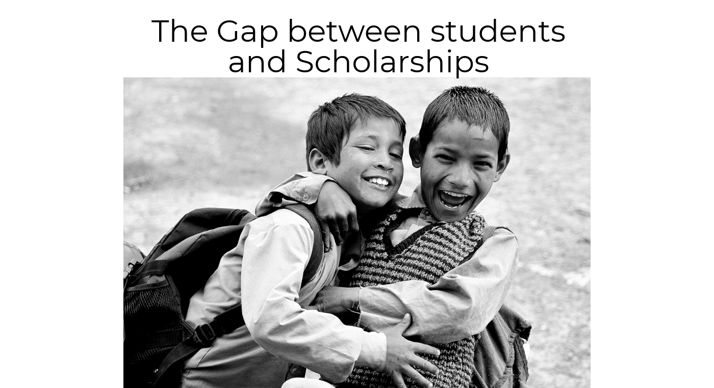 Indian Scholarship System- bridging the information gap between students and schemes