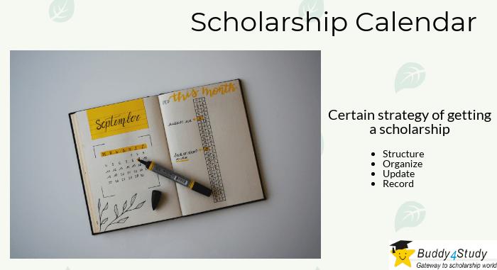 Scholarship Calendar Buddy4Study