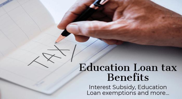 Tax Benefits on Education Loan