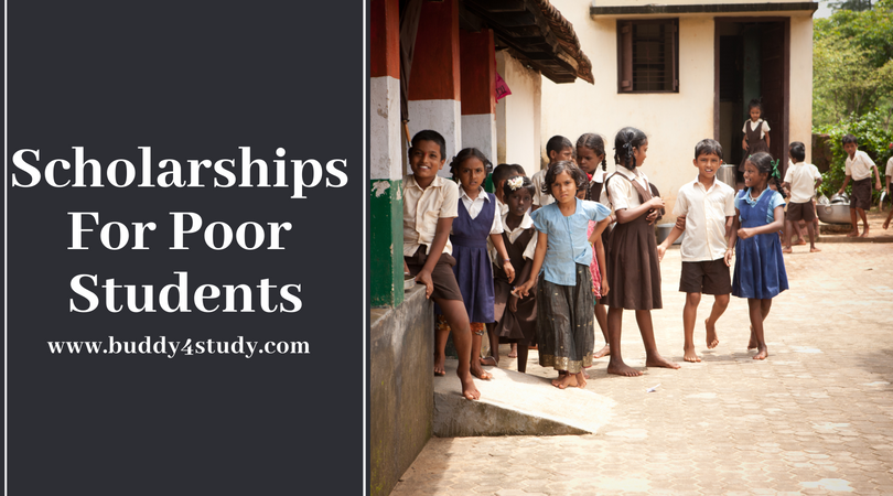 scholarship for poor students buddy4study