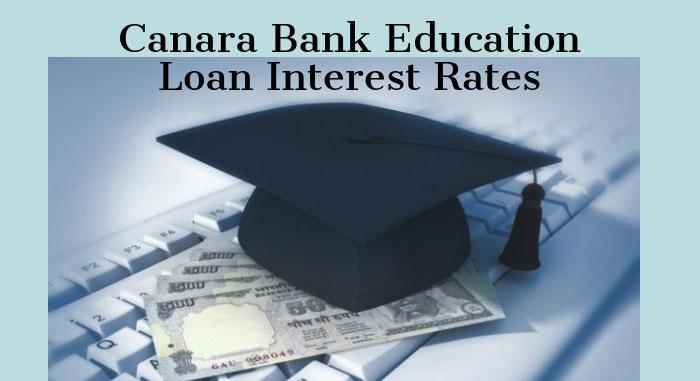 Canara Bank Education Loan Interest Rates