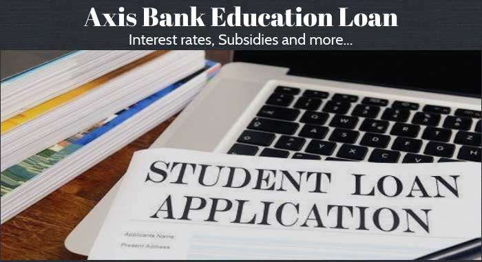 Axis Bank Education Loan Interest Rate