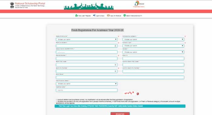 National Scholarship Portal Last Date - Registration Process