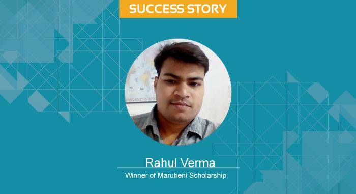 Scholar Success Story- Rahul Verma