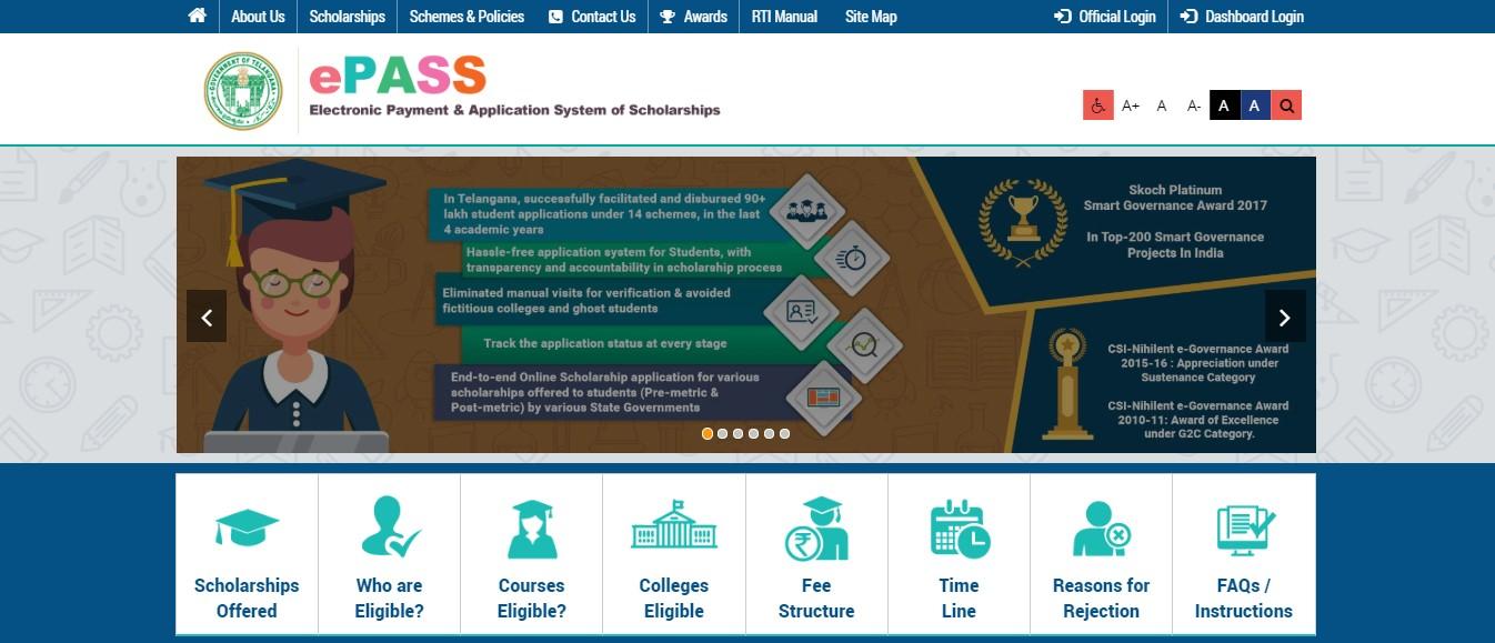 Telangana ePASS - Home Page