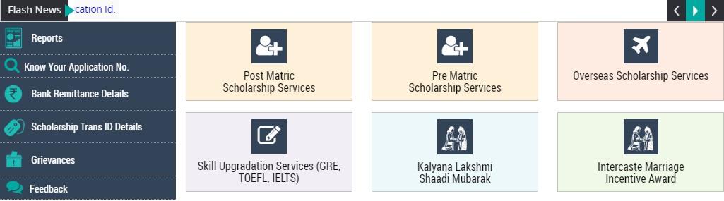 Telangana ePASS - Select Scholarship