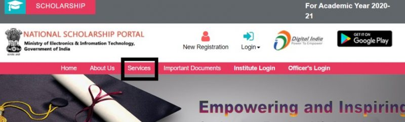NSP Login - Procedure to Search District wise Nodal Officer