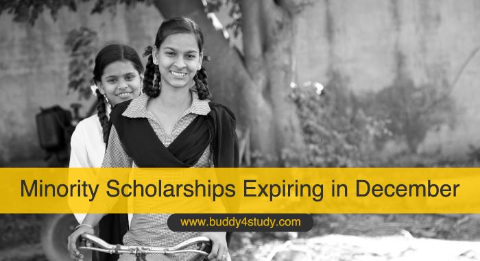 Minority Scholarships Expiring in December