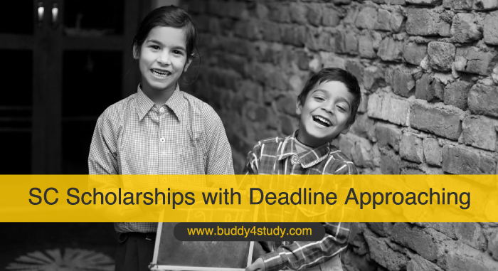 SC Scholarships with Deadline Approaching