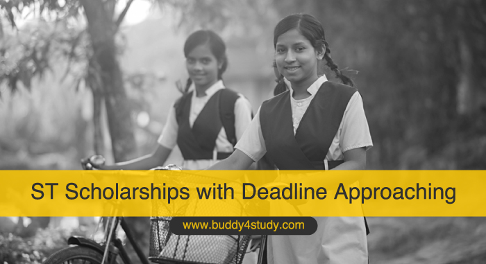 ST Scholarships with Deadline Approaching