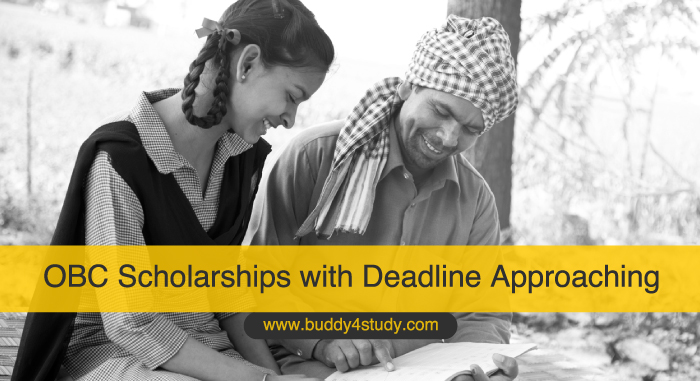 OBC Scholarships with Deadline Approaching