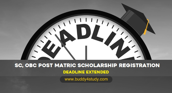 SC, OBC Post Matric Scholarship Registration