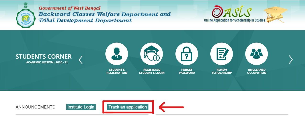 Oasis Scholarship 2020-21- Application Status