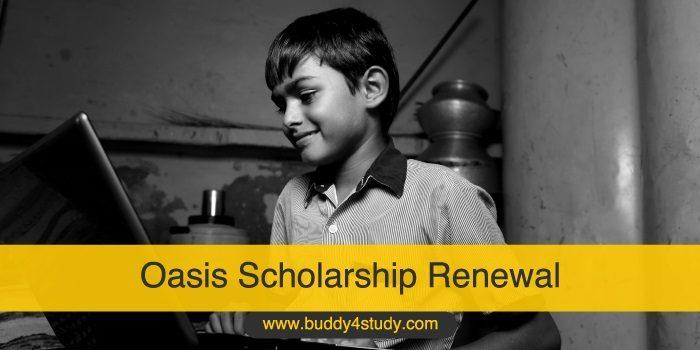 Oasis Scholarship Renewal