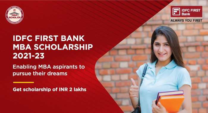 IDFC FIRST Bank MBA Scholarship 2021-23